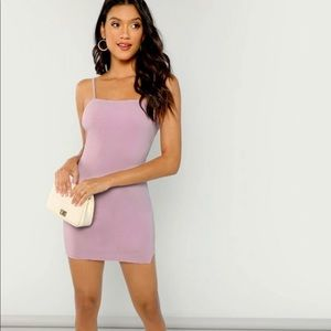 Side Slit Mini Cami Dress